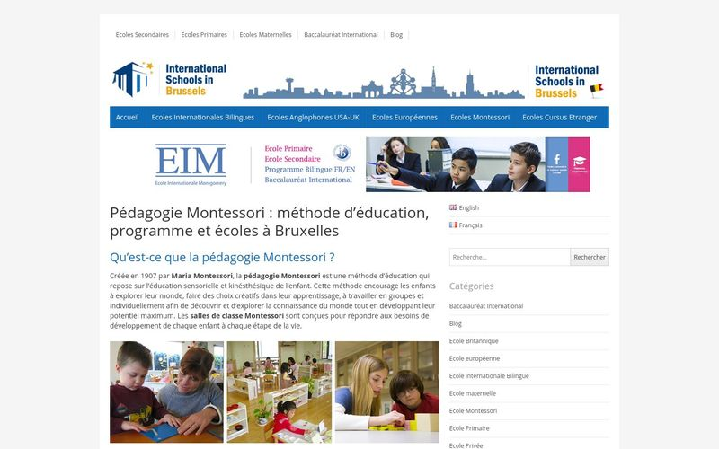 Pédagogie Montessori : International Schools In Brussels